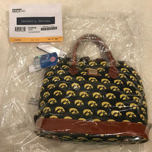 Dooney & Bourke Iowa Hawkeyes Zip-Top Satchel, NWT